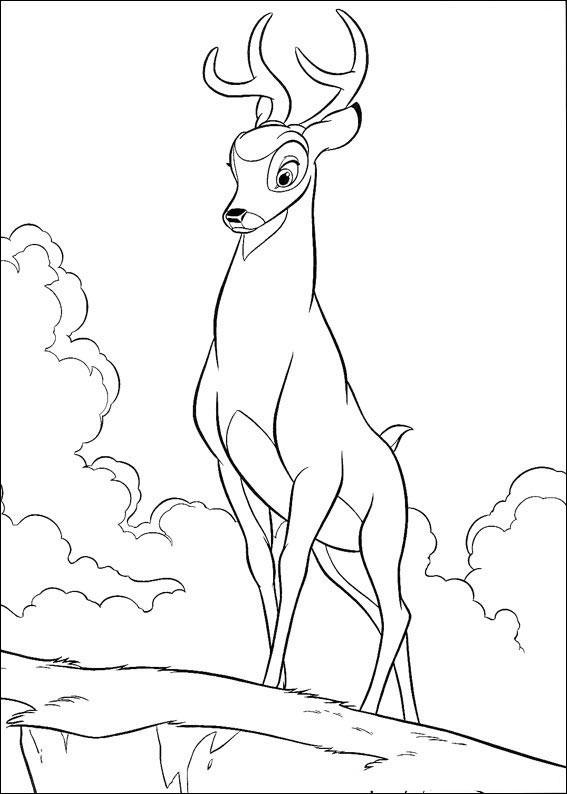 Bambi Coloring Pages Ronno