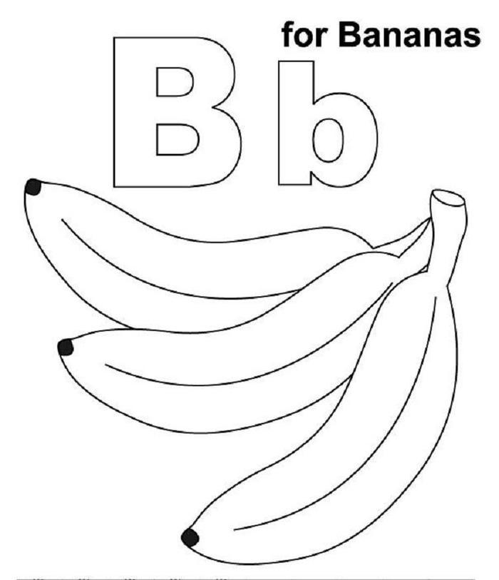 Banana Coloring Pages For Preschooler