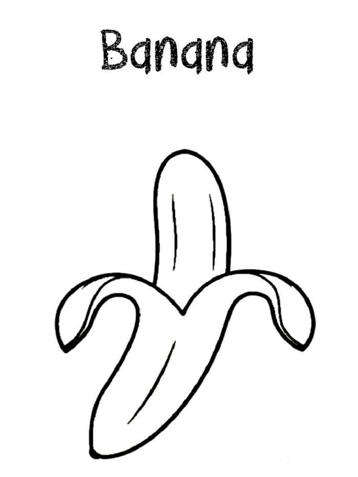 Banana Coloring Pages For Toddlers