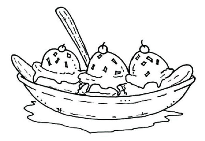 Banana Food Coloring Pages