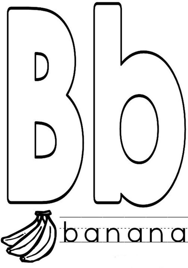 Banana In B Word Alphabet Coloring Pages