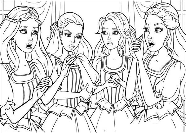 Barbie And Three Musketeers Coloring Pages Think About Plan To Do