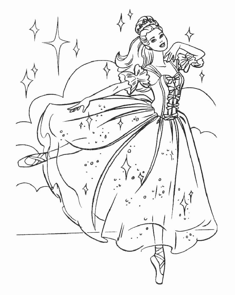 Barbie Ballet Coloring Pages Printable