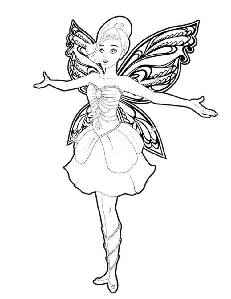 Barbie Coloring Pages Fairy
