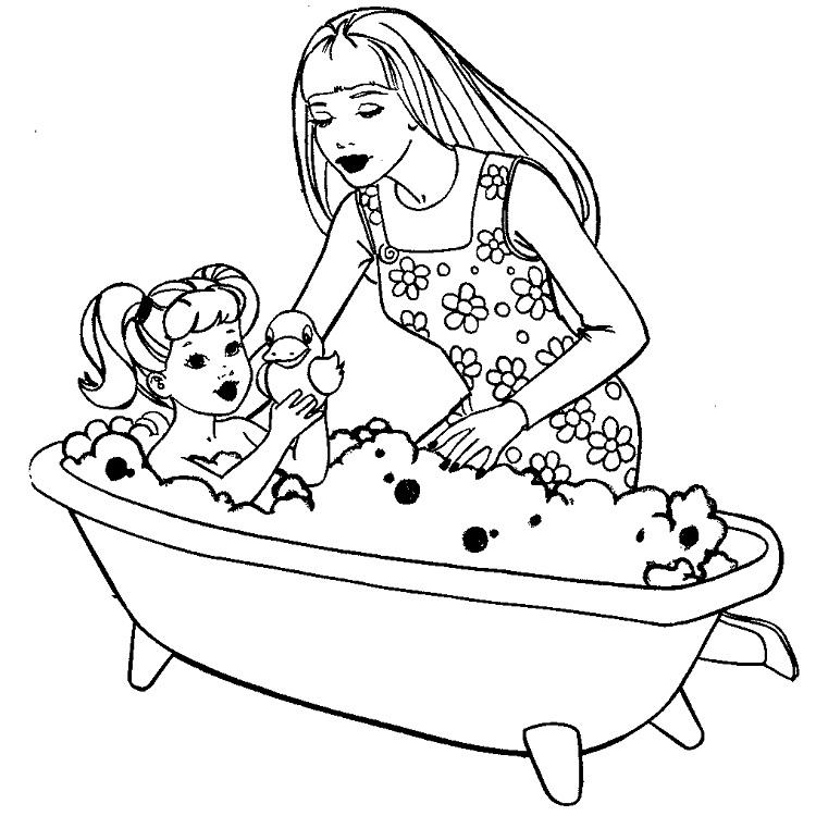 Barbie Coloring Pages For Toddlers