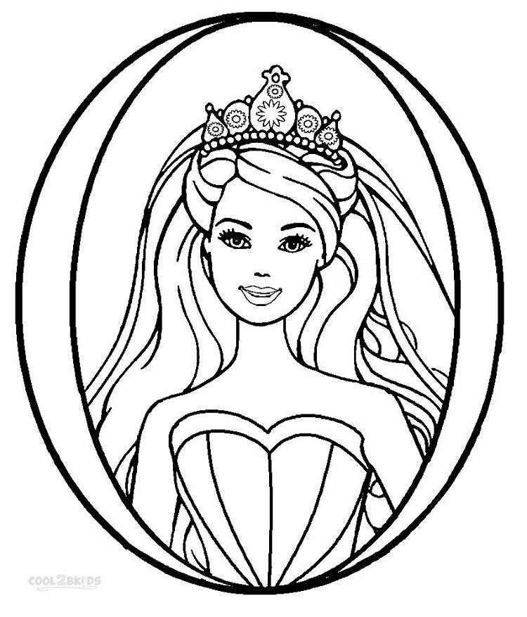 Barbie Coloring Pages Print Out
