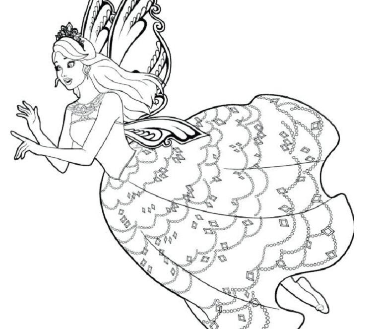 Barbie Coloring Pages Printable Free
