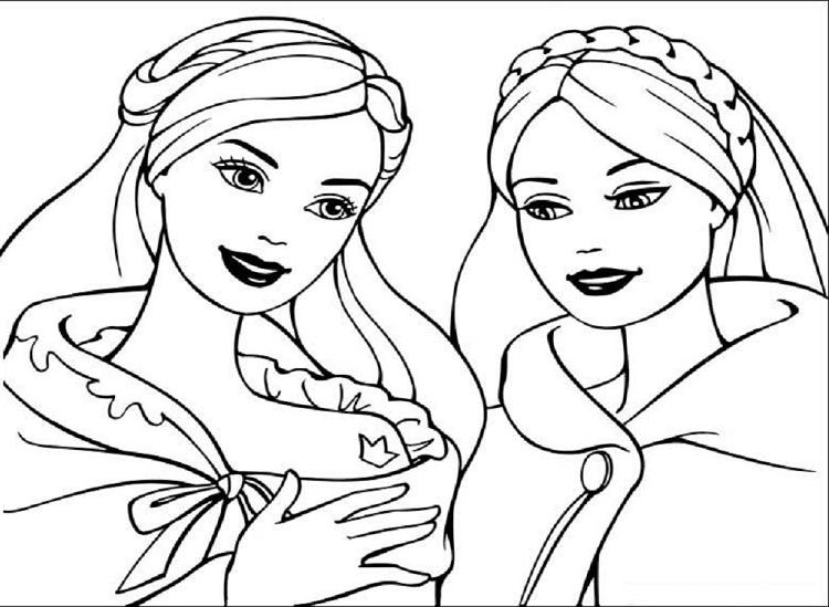 Barbie Educational Coloring Pages