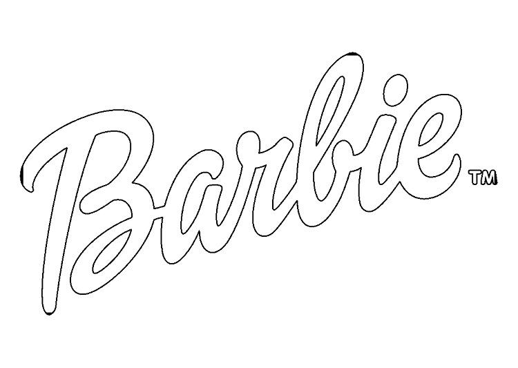 Barbie Logo Coloring Pages