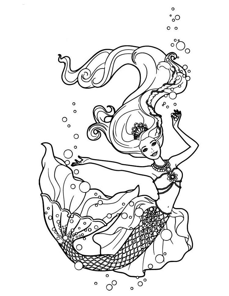 Barbie Lumina Coloring Pages