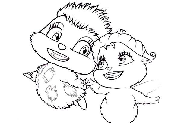 Barbie Mariposa Dizzle And Zinzie Coloring Pages