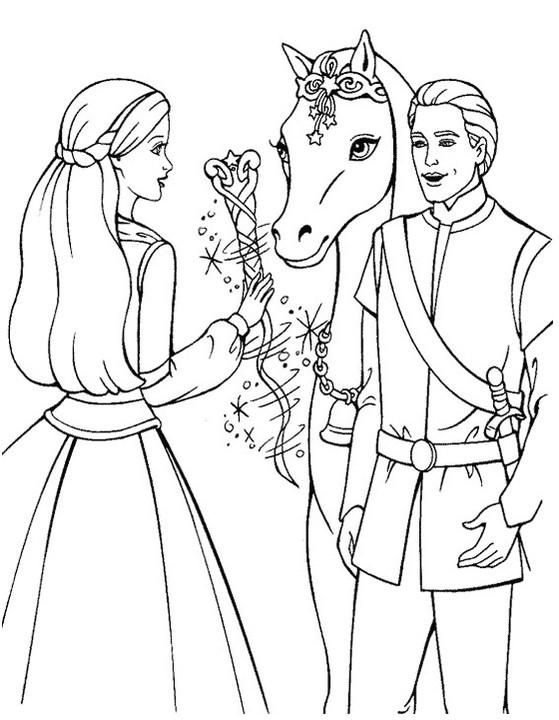 Barbie Princess And Horse Coloring Book
