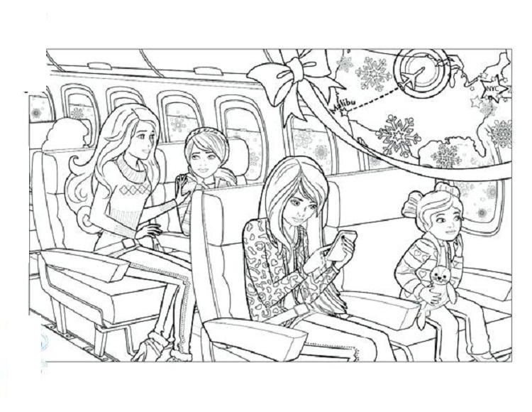 Barbie Skipper Coloring Pages