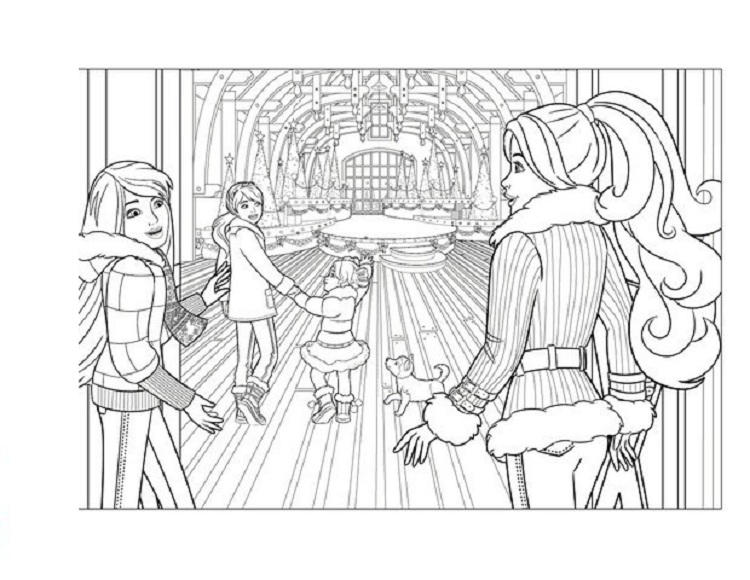 Barbie Stacie Coloring Pages