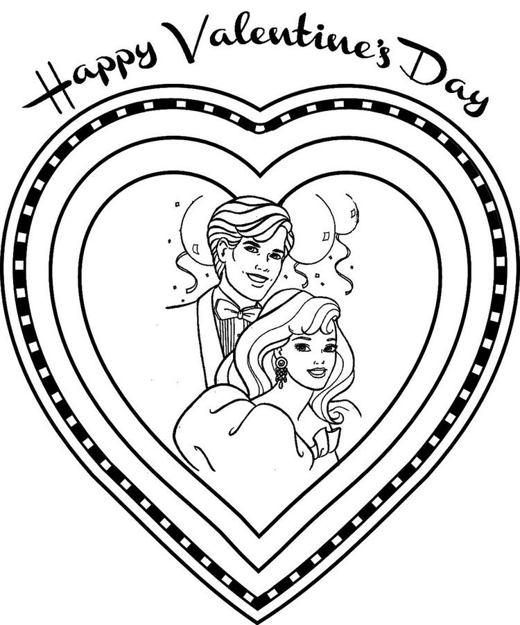 Barbie Valentine Day Coloring Book For Girls