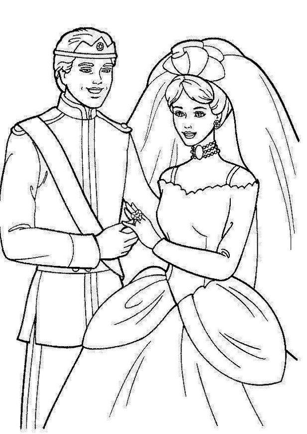 Barbie Wedding Coloring Sheet Printable