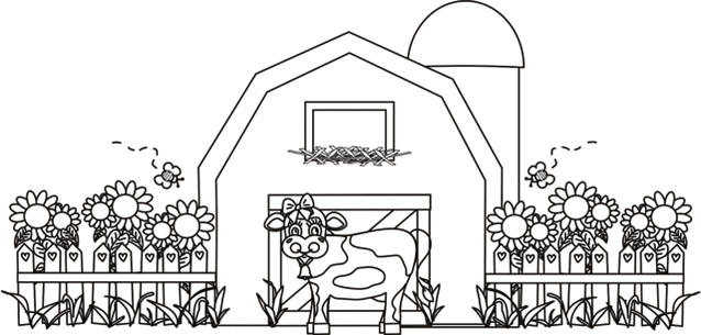 Barn Coloring Pages Printable