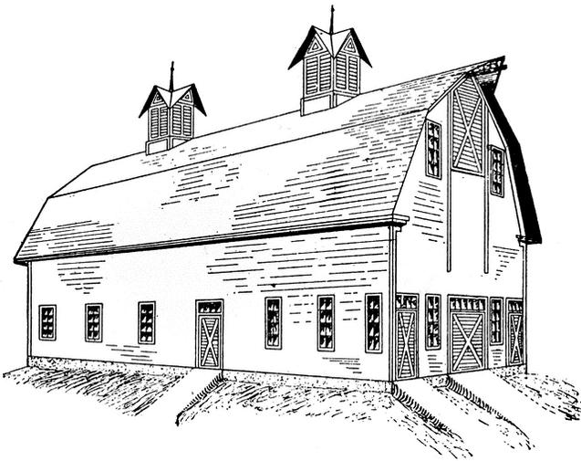 Barn Drying Coloring Pages