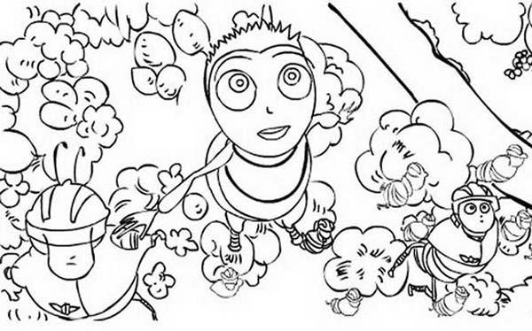 Barry And Bee Squad In Bee Movie Coloring Pages