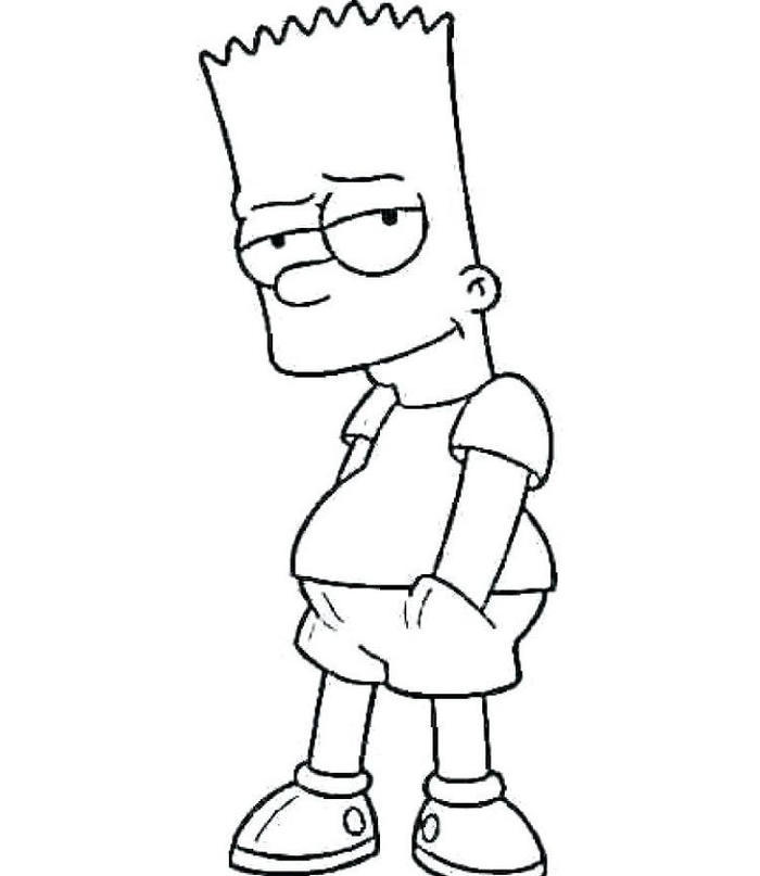 Bart Simpson Coloring Pages