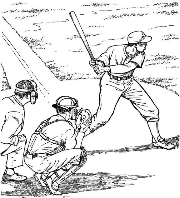 Baseball Coloring Pages Batter