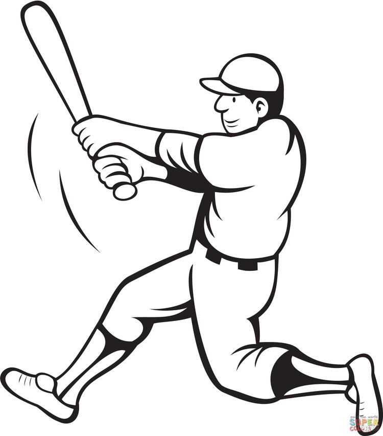 Baseball Coloring Pages To Print