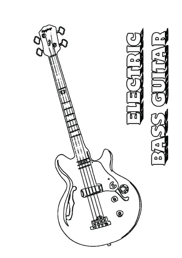 Bass Guitar Coloring Pages To Print