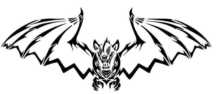 Bat Coloring Pages Tribal