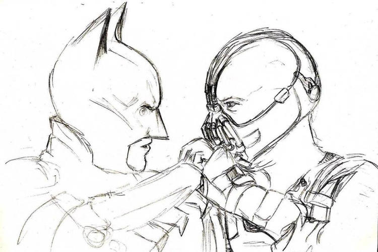 Batman And Bane Coloring Pages