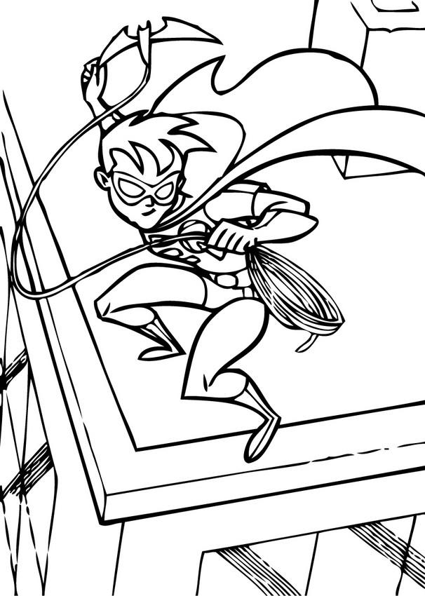 Batman And Robin Coloring Pages Action