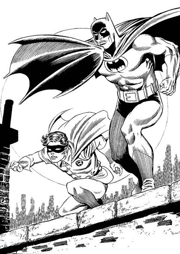 Batman And Robin Coloring Pages For Boys