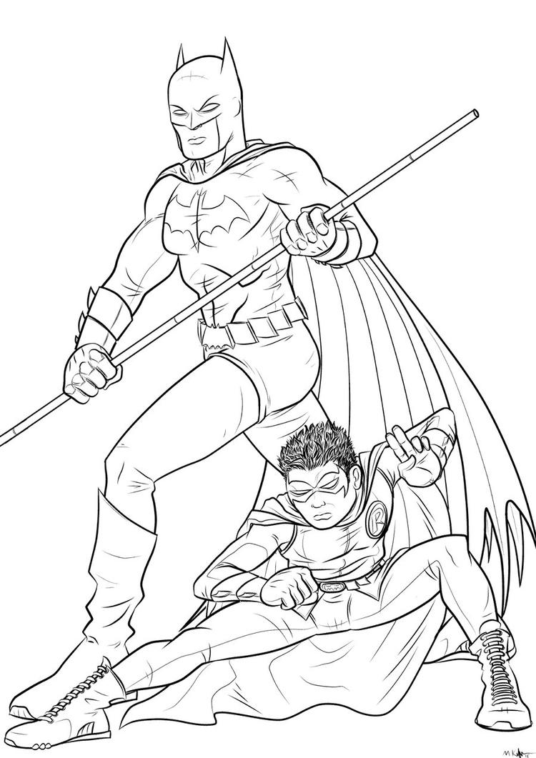 Batman And Robin Coloring Pages For Kids 1