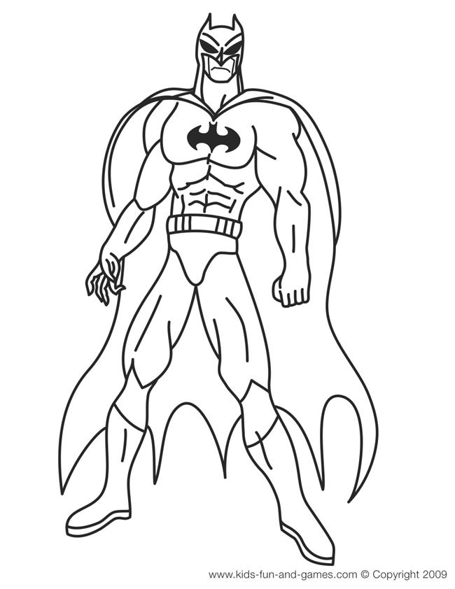Batman And Robin Coloring Pages Printable