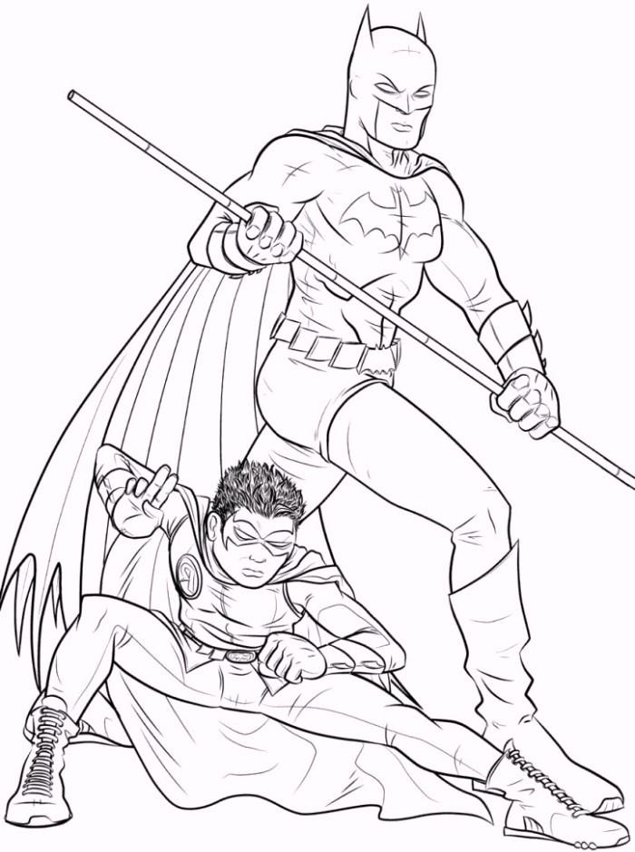 Batman And Robin Coloring Pages To Print