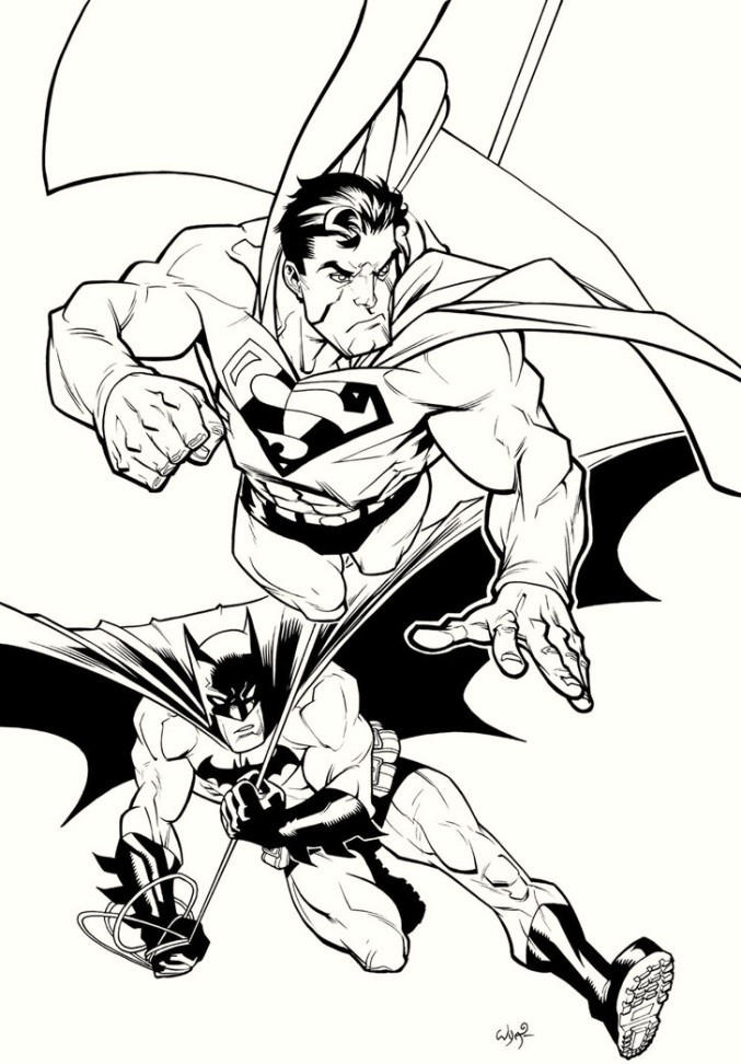 Batman And Superman Coloring Pages For Boys