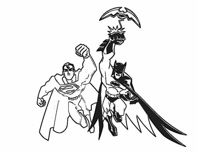Batman And Superman Coloring Pages For Print
