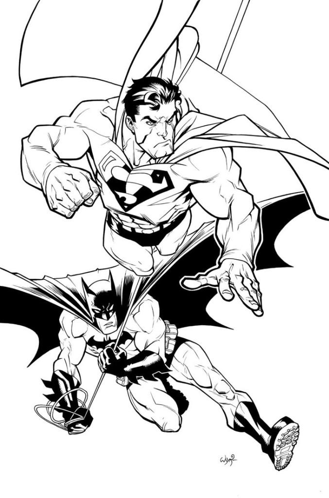 Batman And Superman Coloring Pages Printable