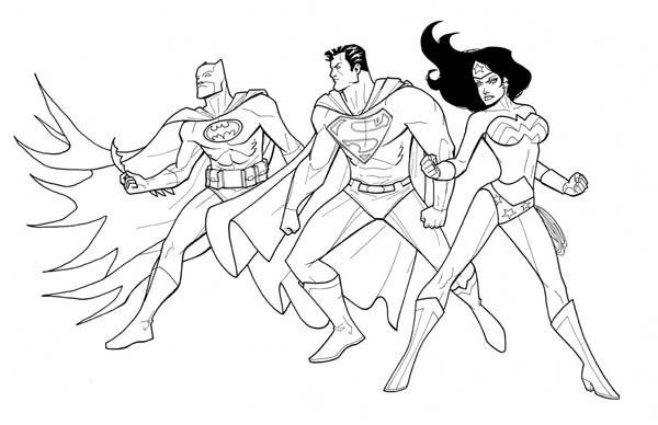 Batman And Superman Coloring Pages To Print Out