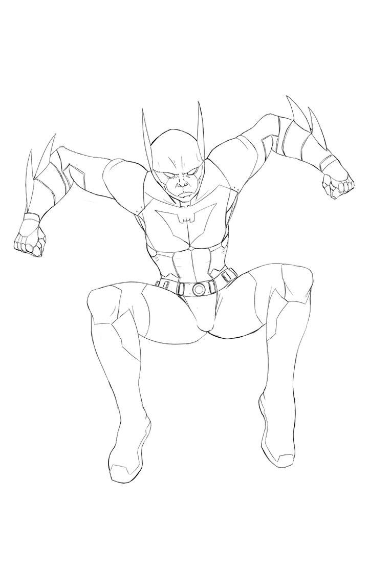 Batman Beyond Coloring Pages 5