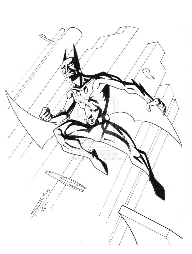 Batman Beyond Coloring Pages Fly