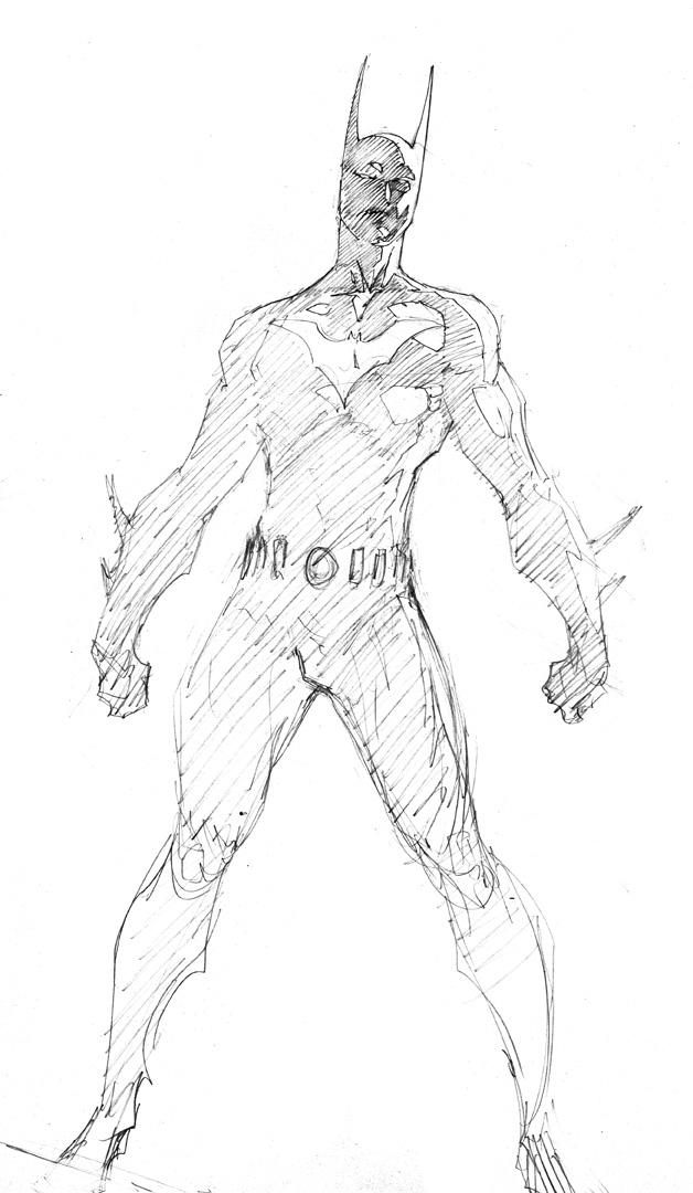 Batman Beyond Sketches Coloring Pages