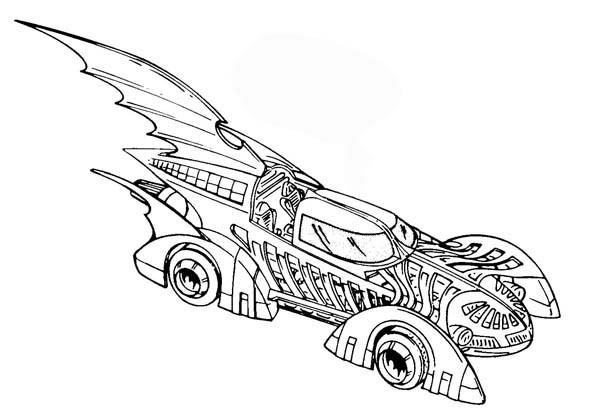 Batman Car Coloring Pages To Print Out