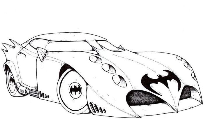 Batman car coloring pictures