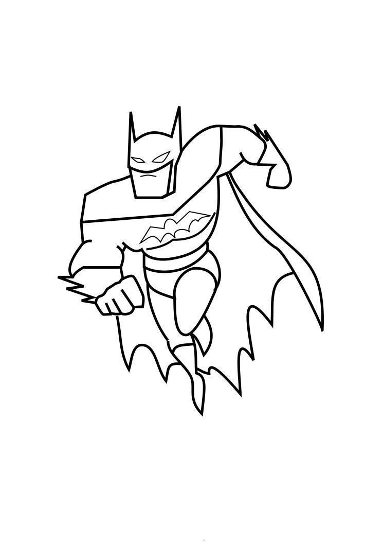 Batman Coloring Page For Childres