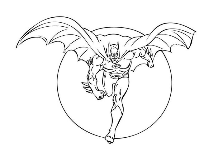 Batman Coloring Pages Running