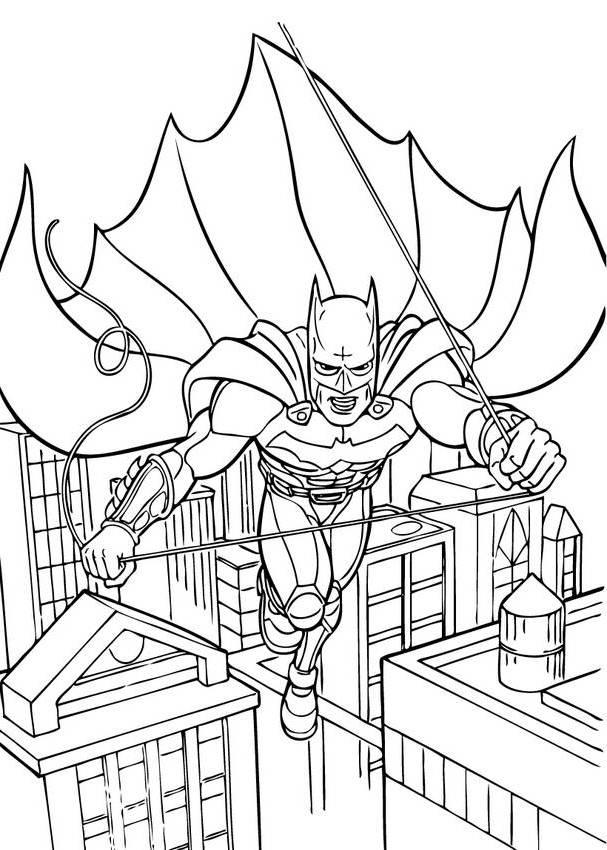 Batman Gotham City Coloring Pages