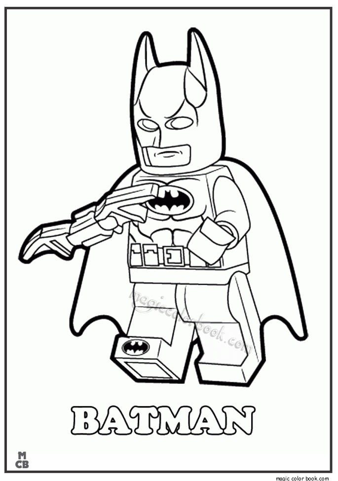 Batman Lego Coloring Pages For Kids