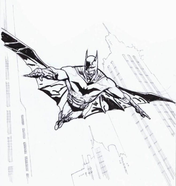 Batman With Wings Coloring Pages