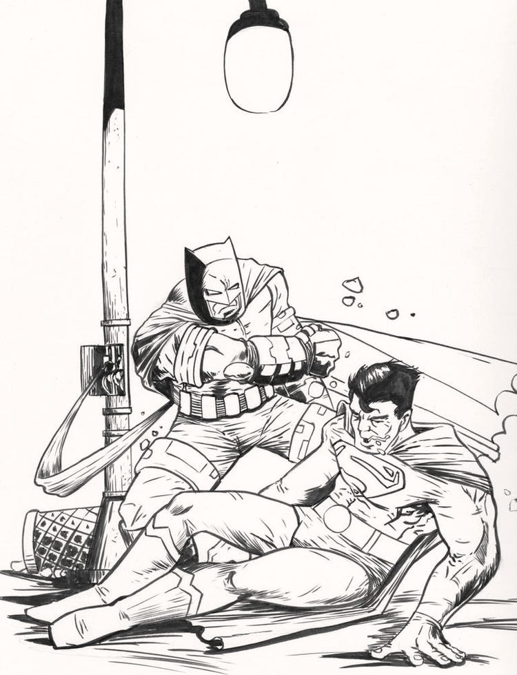 Batman Vs Superman Coloring Pages To Print