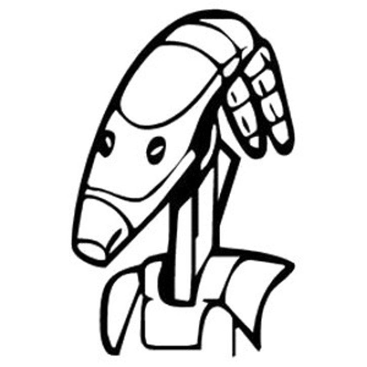 Battle Droid Head Star Wars Coloring Pages